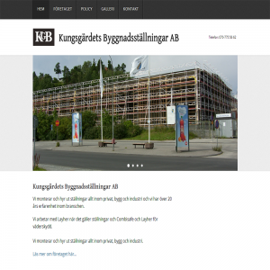 Kungsgärdets Byggnadsställningar Projekt Logo